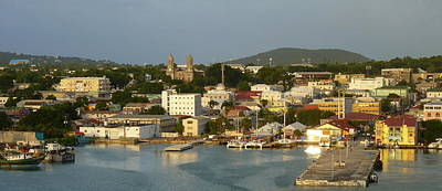 Photograph - Afternoon Light On Antigua's St. Johns Harbor by Carla Parris