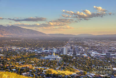 Photograph - Afternoon Light On Salt Lake Valley by Spencer Baugh