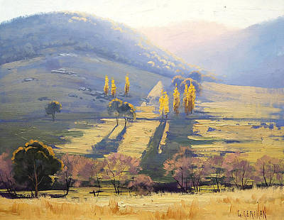 Australia Painting - Afternoon Light Tarana  by Graham Gercken