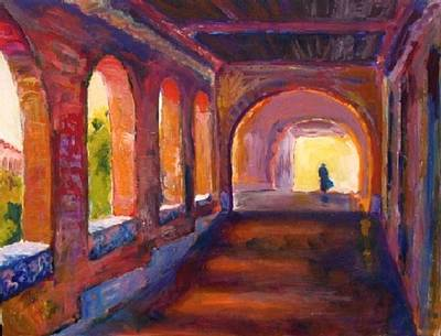 Seminary Painting - Afternoon Meditations by Margaret  Plumb