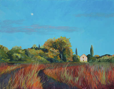 Painting - Afternoon Moon by Lynn Goldstein