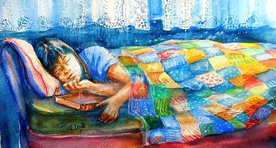 Afternoon Nap Print by Trudi Doyle