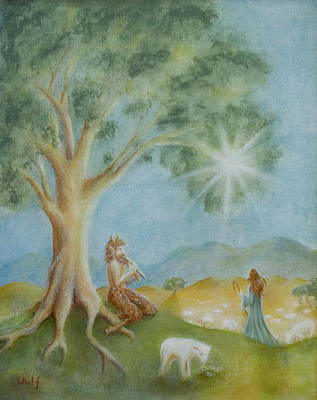 Faun Painting - Afternoon Of A Faun by Bernadette Wulf