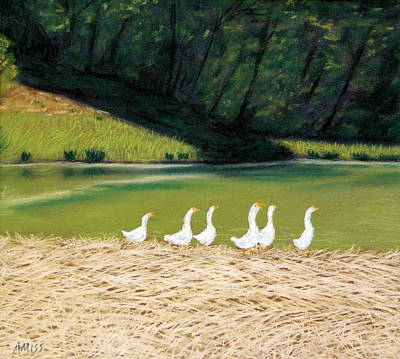 Pastel - Afternoon On Goose Pond by Jan Amiss
