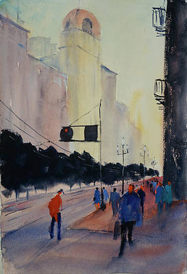 Painting - Afternoon On Market Street by Tom Simmons