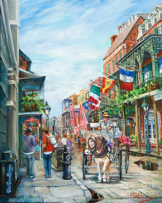 New Orleans Oil Painting - Afternoon On St. Ann by Dianne Parks
