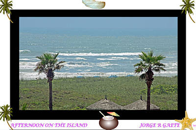 Afternoon On The Island A Poster Art Print by Jorge Gaete