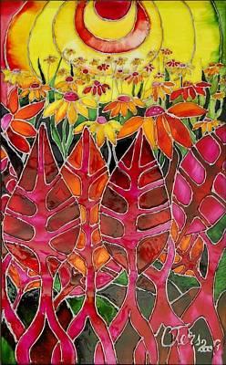 Afternoon On The Porch Art Print by Cornelia Tersanszki