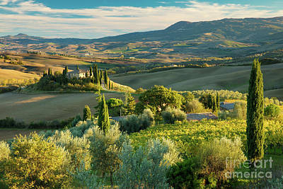 Photograph - Afternoon Over Tuscany by Brian Jannsen