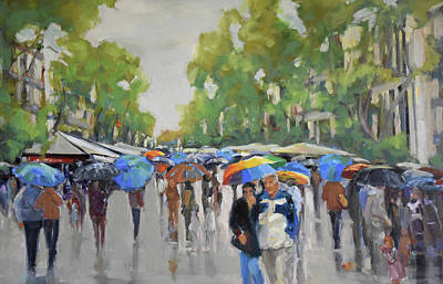Wall Art - Painting - Afternoon Rain by Kathryn McMahon