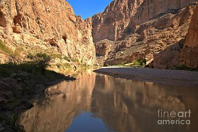 Photograph - Afternoon Reflections At Boquillas Canyon by Adam Jewell