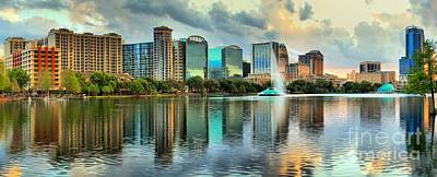 Photograph - Afternoon Reflections In Lake Eola by Adam Jewell