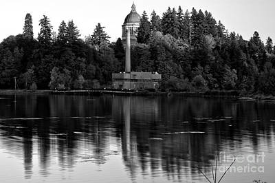 Photograph - Afternoon Reflections Of Olympia - Black And White by Adam Jewell