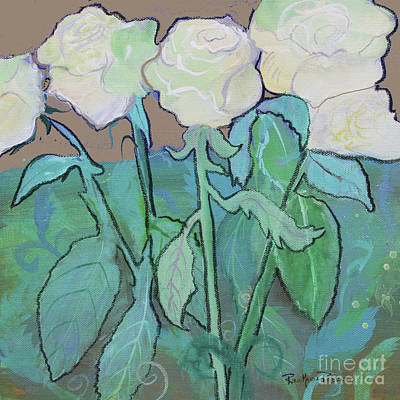 Mixed Media - Afternoon Roses by Robin Maria Pedrero