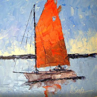 Afternoon Sail Art Print by Leslie Saeta