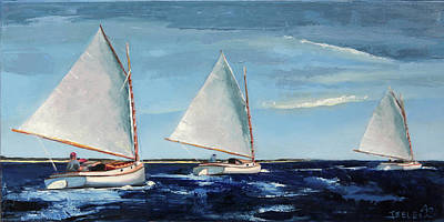 Painting - Afternoon Sailers by Trina Teele