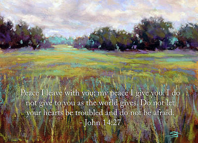 Painting - Afternoon Serenity With Bible Verse by Susan Jenkins
