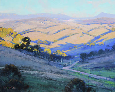 Painting Rights Managed Images - Afternoon Shadows Kanimbla Valley Royalty-Free Image by Graham Gercken