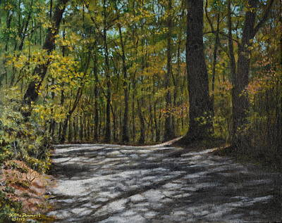 Smokey Mountains Painting - Afternoon Shadows - Oconne State Park by Kathleen McDermott