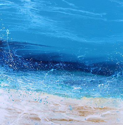 Abstract Seascape Painting - Afternoon Splash 6-a by KImberly Conrad