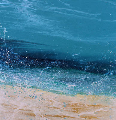 Abstract Seascape Painting - Afternoon Splash 6b by KImberly Conrad
