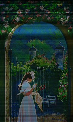 Painting - Afternoon Stroll by Jean Hildebrant