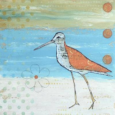 Sandpiper Mixed Media - Afternoon Stroll by Nancy Gunther