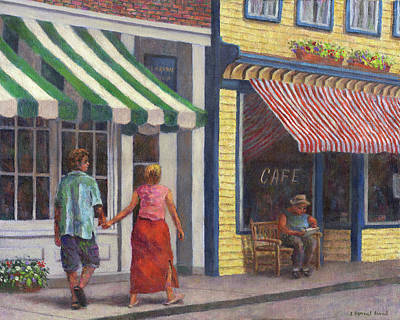 Stripes Painting - Afternoon Stroll by Susan Savad