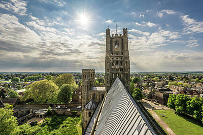Photograph - Afternoon Sun In Ely by James Billings