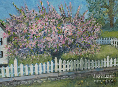 Painting - Afternoon Sun On Crabapple Tree by Rita Brown