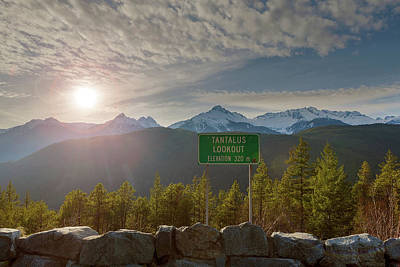 Photograph - Afternoon Sun Over Tantalus Range From Lookout by David Gn