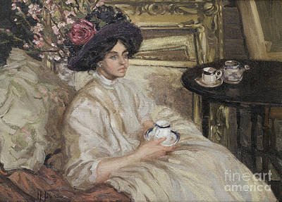 Afternoon Tea Painting - Afternoon Tea by Celestial Images