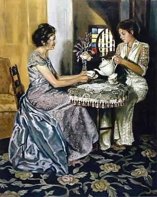 Teapot Painting - Afternoon Tea by Deborah  Macy