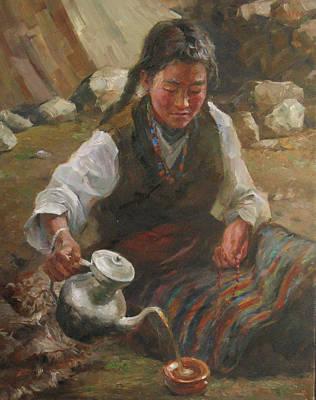 Afternoon Tea Art Print by Kelvin  Lei
