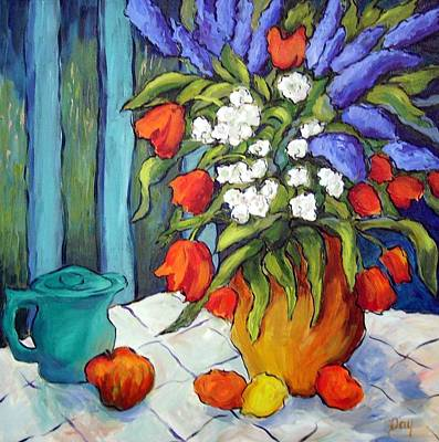 Painting - Afternoon Tea by Nancy Day