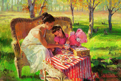 Painting - Afternoon Tea Party by Steve Henderson