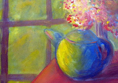 Teapot Painting - Afternoon Tea by Rebecca Merola