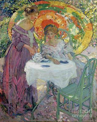 Afternoon Tea Print by Richard Edward Miller