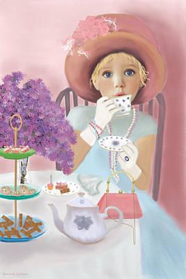 Digital Art - Afternoon Tea by Sannel Larson
