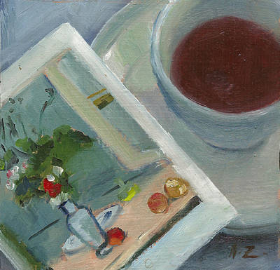 Teapot Painting - Afternoon Tea Time No.30 by Ni Zhu