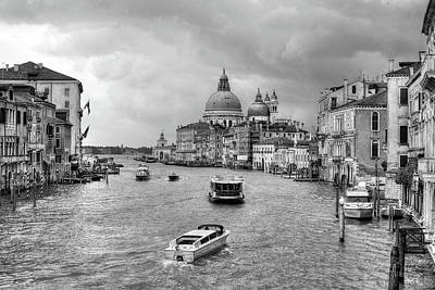 Photograph - Afternoon Traffic On The Grand Canal by John Hoey