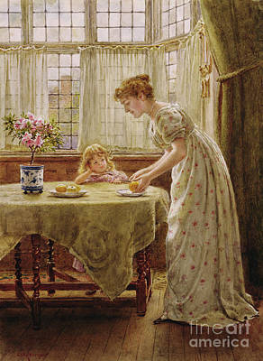 Meal Painting - Afternoon Treat by George Goodwin Kilburne