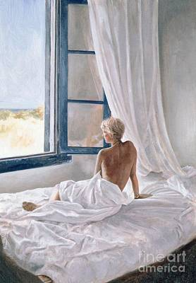 Girls Bedroom Painting - Afternoon View by John Worthington