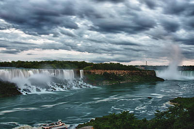 Photograph - Afternoon View Of Niagara Falls by Jeff Folger