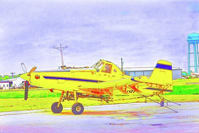 Digital Art - Ag Plane by Barry Jones