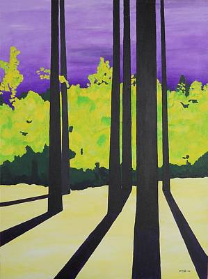 Painting - Against A Purple Sky by Susan M Woods