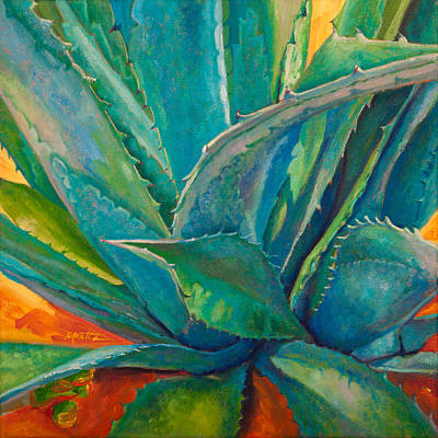 Cactus Painting - Against The Grain by Athena  Mantle