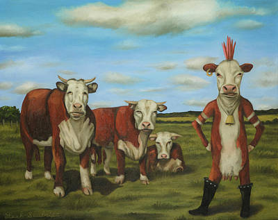 Art Print featuring the painting Against The Herd by Leah Saulnier The Painting Maniac