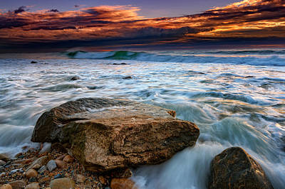 Montauk Photograph - Against The Tide At Montauk Point by Rick Berk