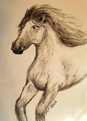 Drawing - Against The Wind by Maria Urso